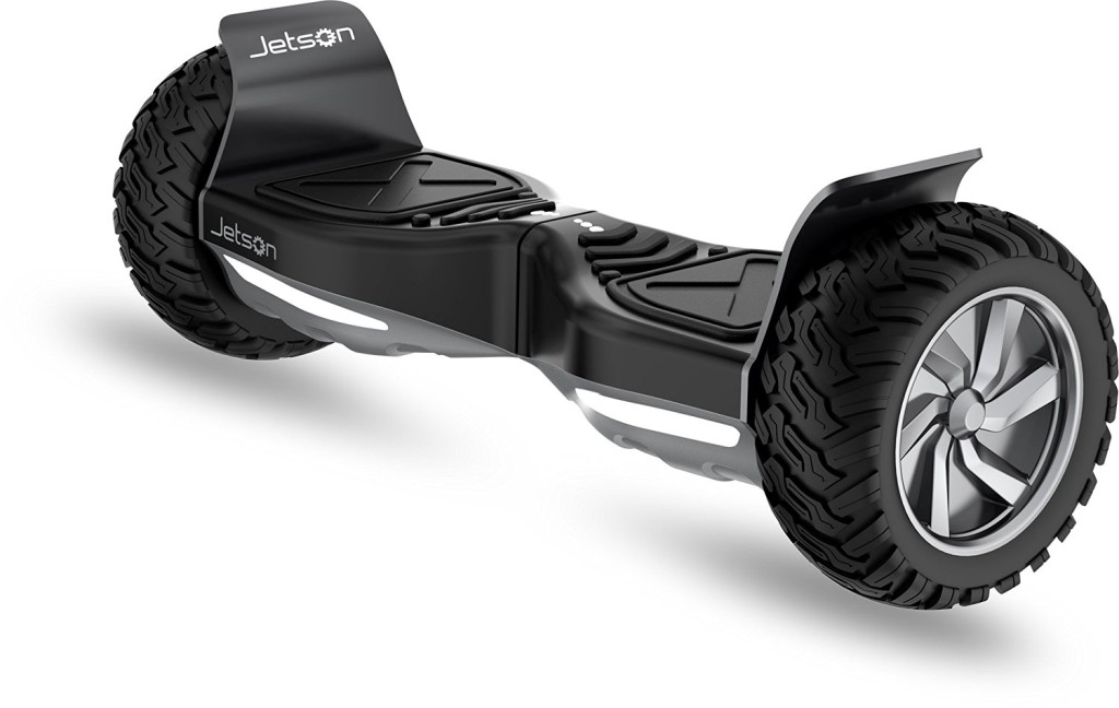 best hoverboards - black jetson front view